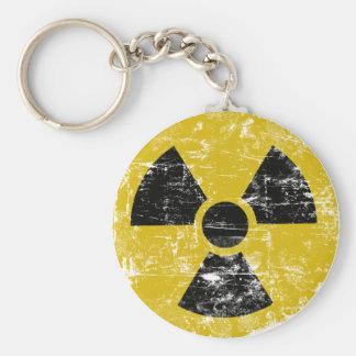 Radioaktiv vintage rund nyckelring