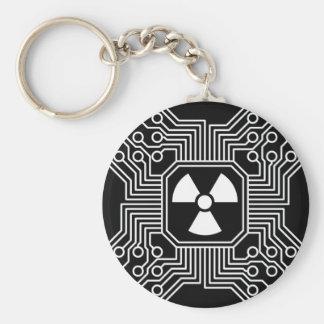 Radioaktivt gå runt Keychain Rund Nyckelring