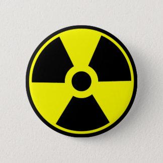 Radioaktivt symbol för kärn- utstrålningssymbol standard knapp rund 5.7 cm