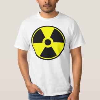 Radioaktivt symbol för kärn- utstrålningssymbol t-shirts