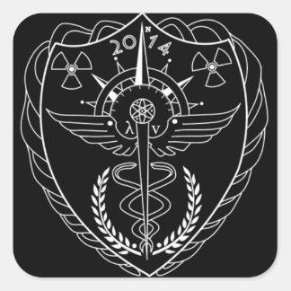 Radiologiklistermärke Fyrkantigt Klistermärke