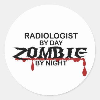 RadiologistZombie Runt Klistermärke