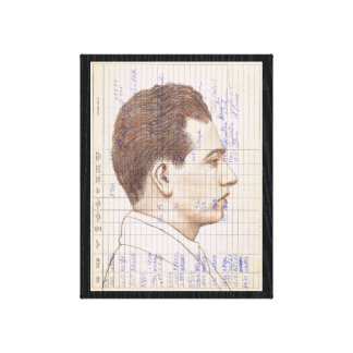 Radiosände Head #12 ritar porträttskinka Canvastryck