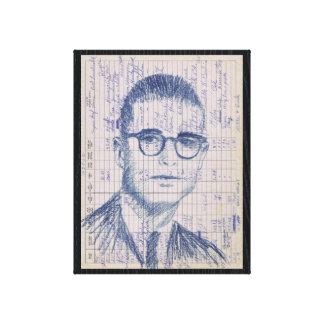 Radiosände Head samtida skinka för porträtt #1 Canvastryck
