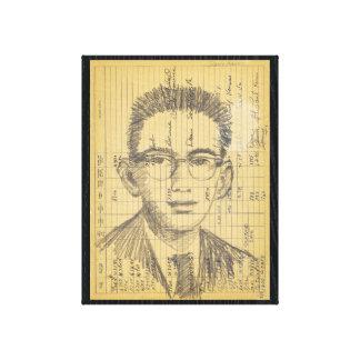 Radiosände Head samtida skinka för porträtt #2 Canvastryck
