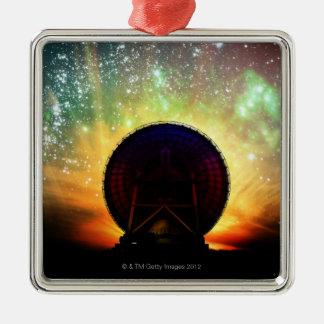 Radiosände teleskop julgransprydnad metall