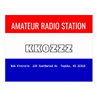 Radiostation för QSL-kortamatör Vykort