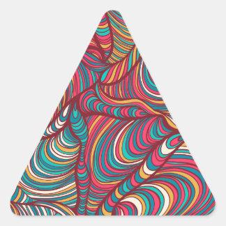 radom målade mönster triangelformat klistermärke