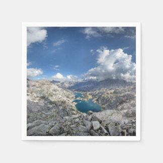 Rae sjöar från den målade damen - John Muir slinga Servett