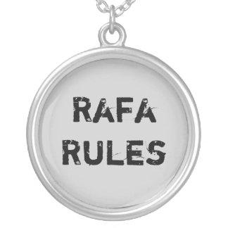 Rafa regler silverpläterat halsband