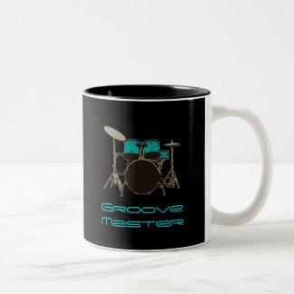 Räffla ledar- handelsresande~ trummar och Två-Tonad mugg