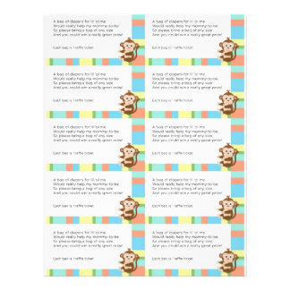 Raffle för apababy showerblöja reklamblad 21,5 x 30 cm