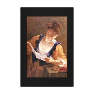 Ragazza che legge', Jean Raoux_Portraits Canvastryck