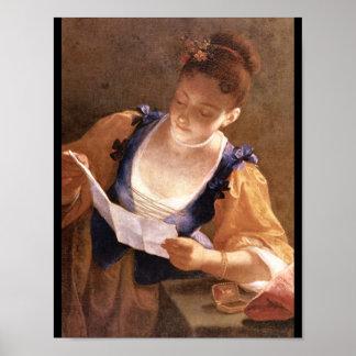 Ragazza che legge', Jean Raoux_Portraits Poster