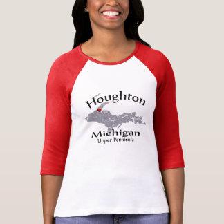 Raglan för design för Houghton Michigan Tee Shirt