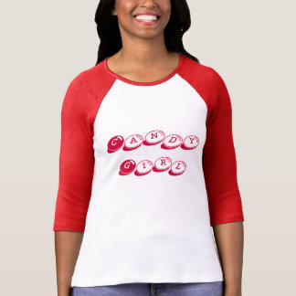 Raglan för sleeve för godisflicka 3/4 t shirts