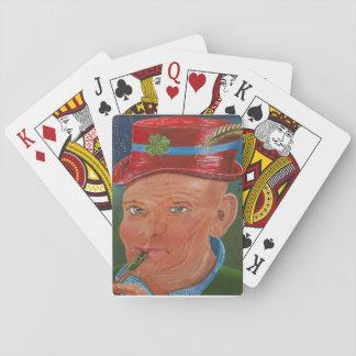 Ragrexnip Kee Kee som leker kort Spelkort