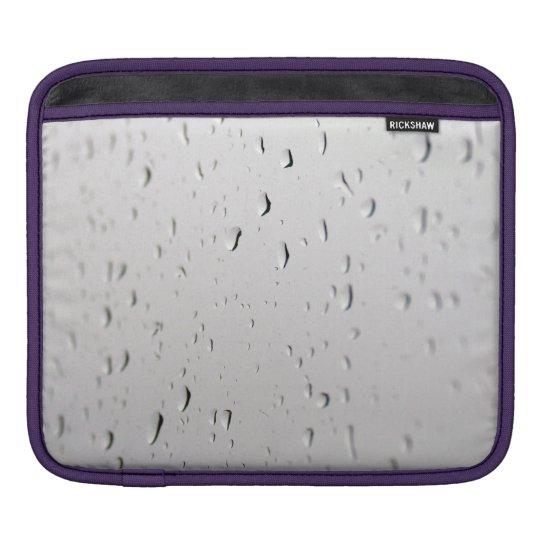 raindrops on ipad sleeve