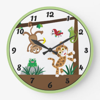 Rainforestdjungeln tar tid på stor klocka