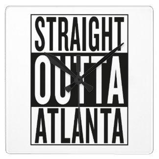 rak outta Atlanta Fyrkantig Klocka