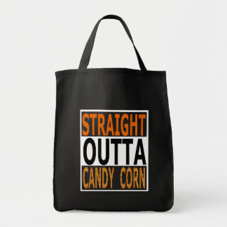 Rak Outta candy corn roliga Halloween Tygkasse