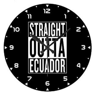 rak outta Ecuador Stor Klocka