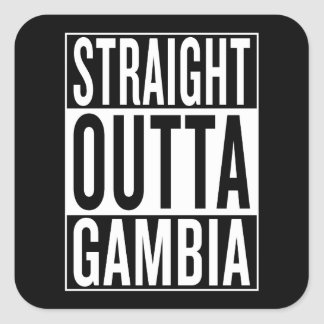 rak outta Gambia Fyrkantigt Klistermärke