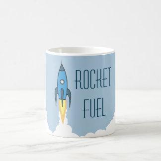 Raket tankar den Retro tecknaden roliga Rocketship Kaffemugg