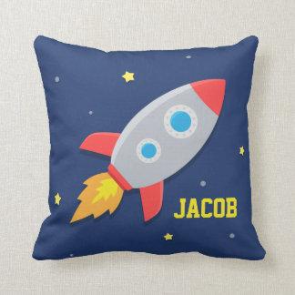 Raketfrakt, rymden, för barnrum kudde