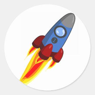 Raketfrakten - numrera 1 klistermärke