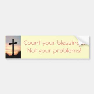 Räkna dina välsignelser bildekal