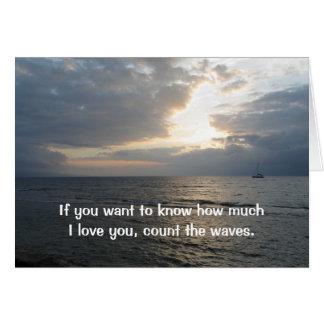 Räkna vågar som jag älskar dig kortet hälsningskort