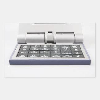 Räknemaskin (2) rektangulärt klistermärke