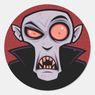 Räkning Dracula Runt Klistermärke