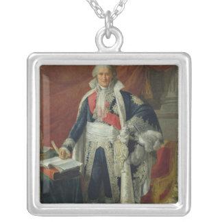 Räkning Jean-Etienne-Marie Portalis 1806 Silverpläterat Halsband