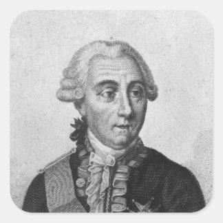 Räkning Louis de Marbeuf 1829 Fyrkantigt Klistermärke