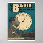 Räkningen Basie täcker av notblad Affischer