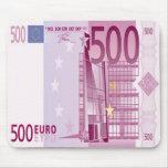 Räkningmusen för Euro 500 vadderar Mus Matta