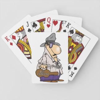 Räkningsamlare som leker kort kortlek