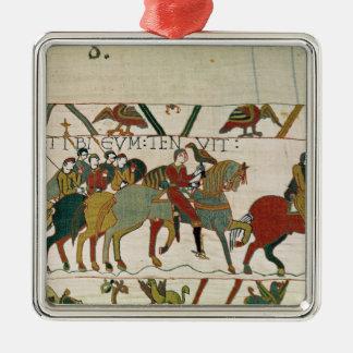 Räkningsgrabben leder honom till Beurain Silverfärgad Fyrkantigt Julgransprydnad