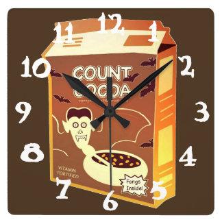 Räkningskakaon Box kvadrerar tar tid på Fyrkantig Klocka