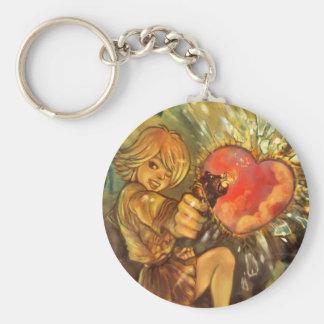 """""""Raksträcka keychain till för din hjärta"""" Rund Nyckelring"""
