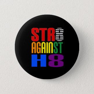 Raksträcka mot bundsförvantrunda för hat LGBT Standard Knapp Rund 5.7 Cm