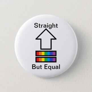Raksträckan men jämbördig LGBT-service klämmer Standard Knapp Rund 5.7 Cm