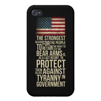 Rakt till björnärmar - Thomas Jefferson citationst iPhone 4 Skal