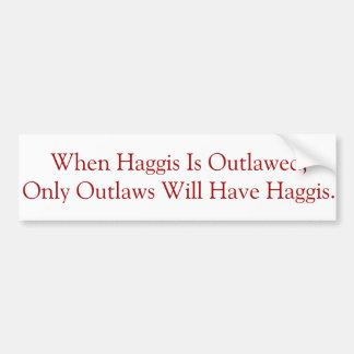 Rakt till öppet bära Haggis Bildekal