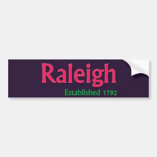 Raleigh etablerad fordonbildekal bildekal