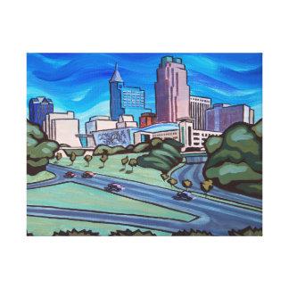 Raleigh horisont sträckta kanvas tryck
