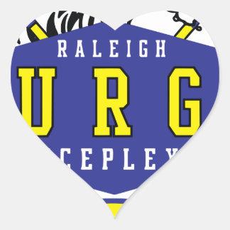 Raleigh IcePlex svallvåg Hjärtformat Klistermärke