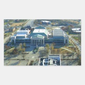 Raleigh minnesmärkesalong rektangulärt klistermärke